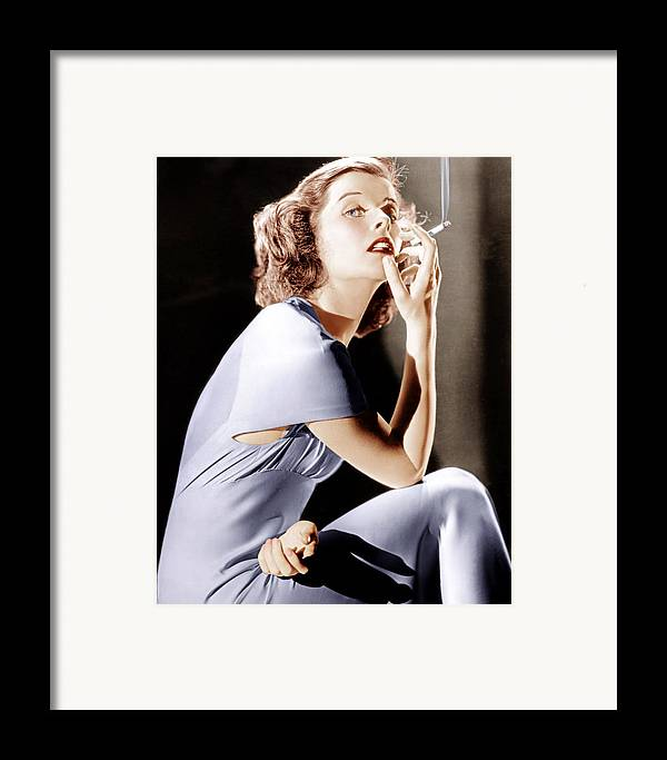 1930s Portraits Framed Print featuring the photograph Katharine Hepburn, Ca. 1930s by Everett