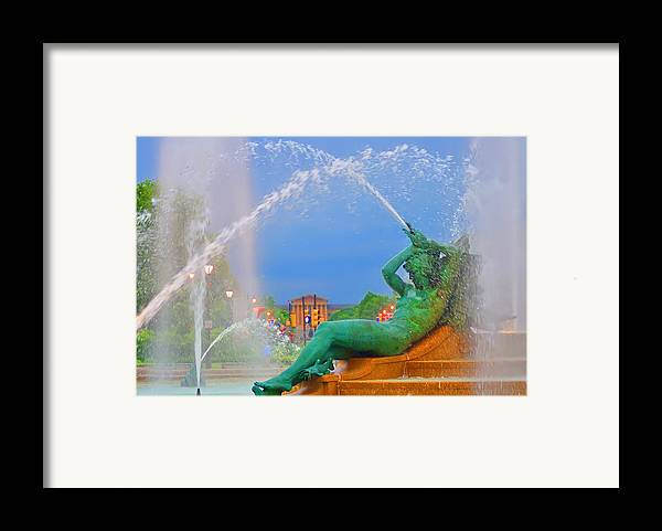 Fountain Framed Print featuring the photograph Logan Circle Fountain 1 by Bill Cannon
