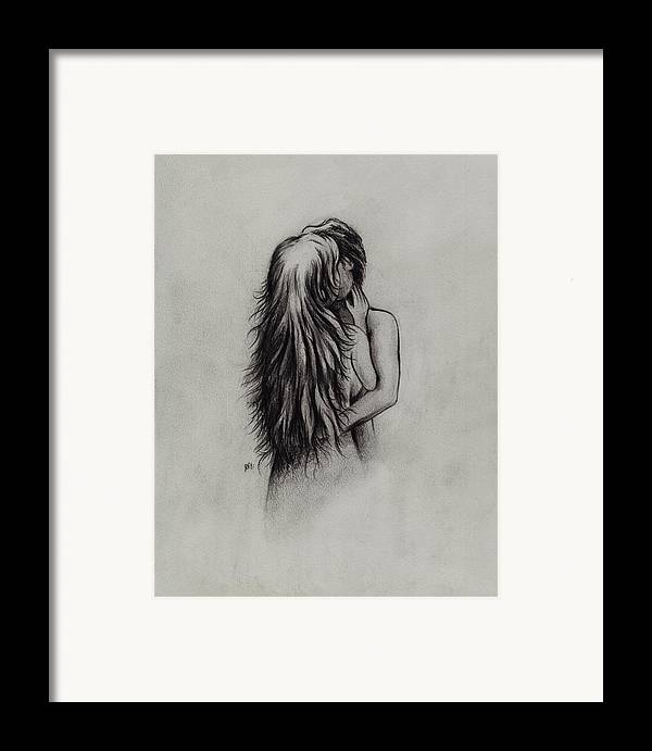 Figures Framed Print featuring the drawing Lovers by Rachel Christine Nowicki