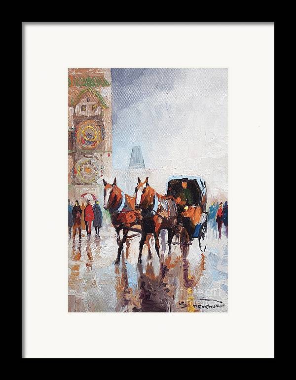 Prague Framed Print featuring the painting Prague Old Town Square by Yuriy Shevchuk