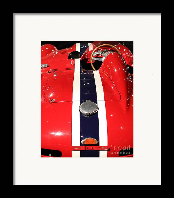 Ferrari Framed Print featuring the photograph Racing Stripes by Wingsdomain Art and Photography
