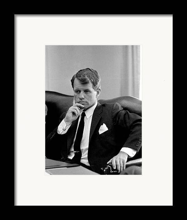 Rfk Framed Print featuring the photograph Robert Kennedy by War Is Hell Store