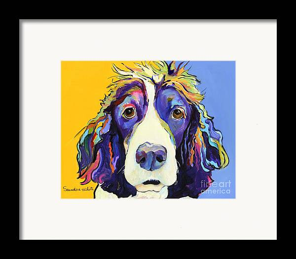 Blue Framed Print featuring the painting Sadie by Pat Saunders-White