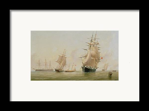 Boat Framed Print featuring the painting Ship Painting by WF Settle
