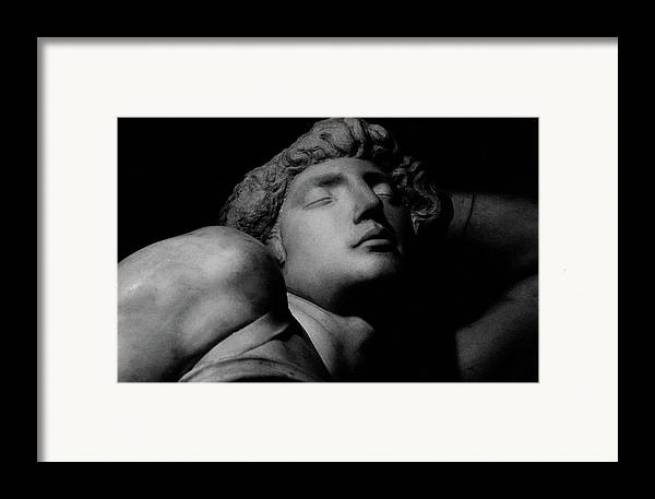 The Dying Slave Framed Print featuring the photograph The Dying Slave by Michelangelo Buonarroti
