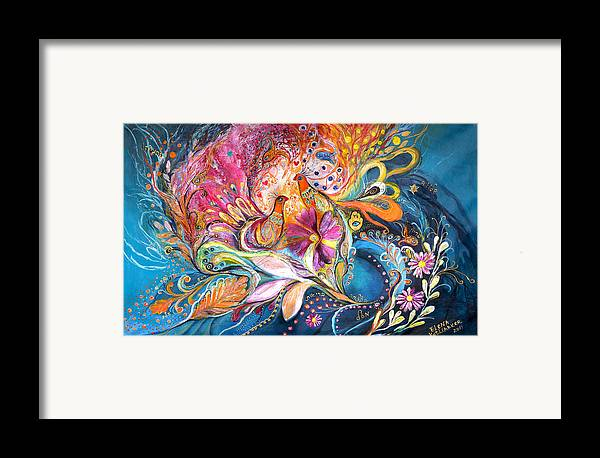 Original Framed Print featuring the painting The Flowers Of Sea by Elena Kotliarker