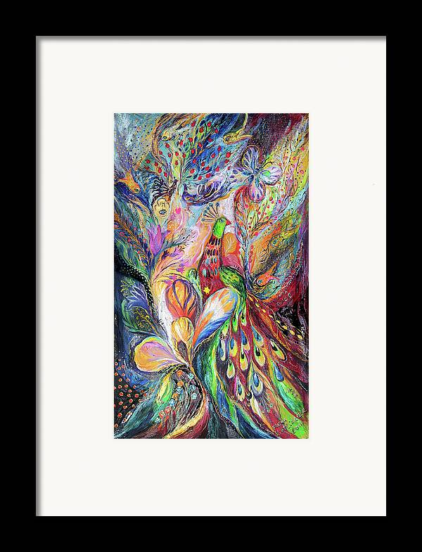 Original Framed Print featuring the painting The King Bird by Elena Kotliarker