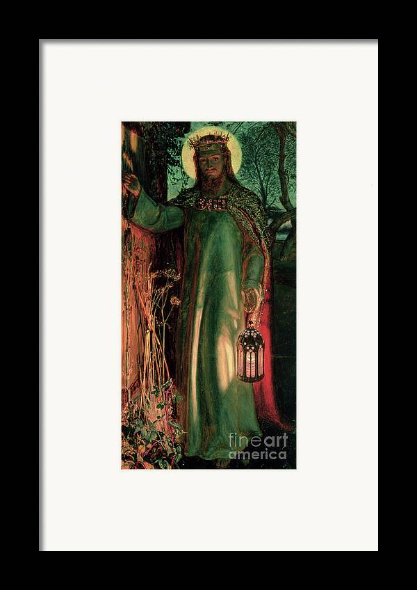 Jesus Framed Print featuring the painting The Light Of The World by William Holman Hunt