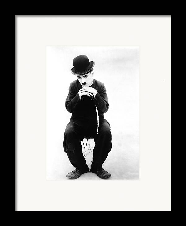 1910s Movies Framed Print featuring the photograph The Tramp, Aka Charlie On The Farm by Everett