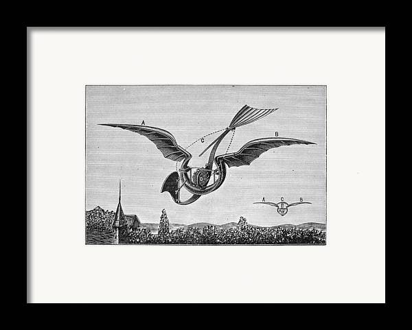 1870 Framed Print featuring the photograph Trouv�s Ornithopter by Granger