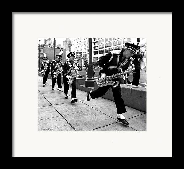 Marching Band Framed Print featuring the photograph Tune Up by Sabine Stetson