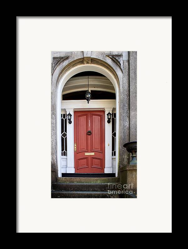 Wooden Framed Print featuring the photograph Wooden Door Savannah by Thomas Marchessault