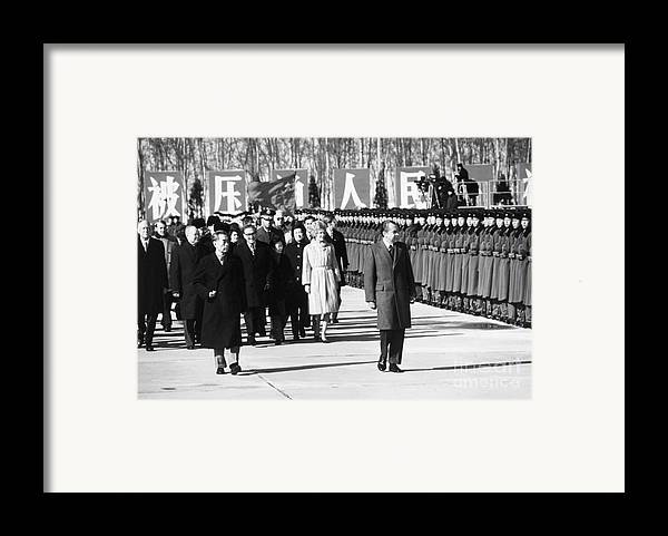 1972 Framed Print featuring the photograph Richard Nixon (1913-1994) by Granger