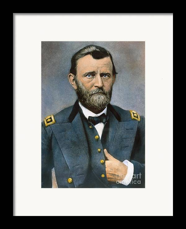 1864 Framed Print featuring the photograph Ulysses S. Grant (1822-1885) by Granger