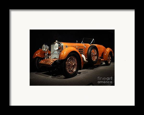 Suiza Framed Print featuring the photograph 1924 Hispano Suiza Dubonnet Tulipwood . Front Angle by Wingsdomain Art and Photography