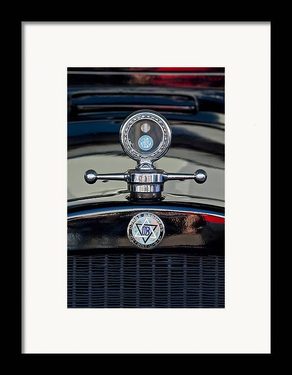 1928 Dodge Brothers Framed Print featuring the photograph 1928 Dodge Brothers Hood Ornament by Jill Reger
