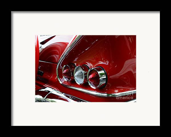 1958 Framed Print featuring the photograph 1958 Impala Tail Lights by Paul Ward