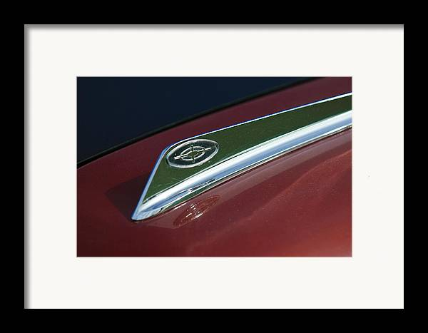 1963 Ford Galaxie Framed Print featuring the photograph 1963 Ford Galaxie Hood Ornament by Jill Reger