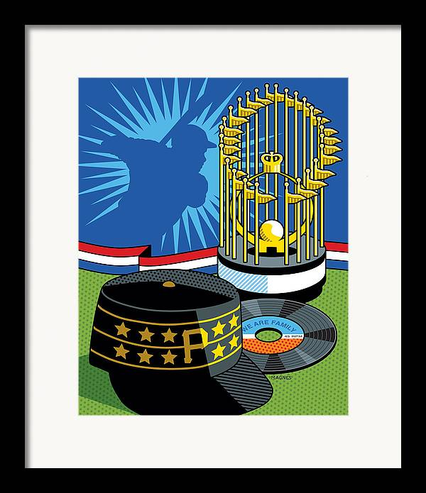 Pittsburgh Pirates Framed Print featuring the digital art 1979 Pirates by Ron Magnes