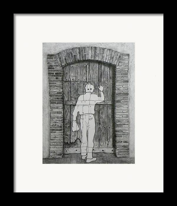 �tant Donn�s Framed Print featuring the drawing Being Taken by Richard Barone