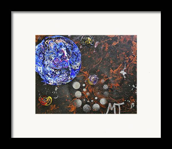 Mercury Framed Print featuring the painting Midnight Transit Planet by Dylan Chambers
