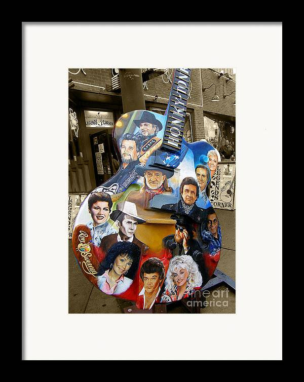 Guitar Framed Print featuring the photograph Nashville Honky Tonk by Barbara Teller