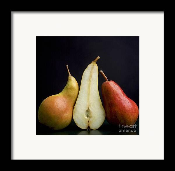 Studio Shot Framed Print featuring the photograph Pears by Bernard Jaubert