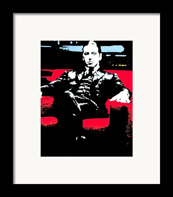 Ludzska Framed Print featuring the painting The Godfather by Luis Ludzska