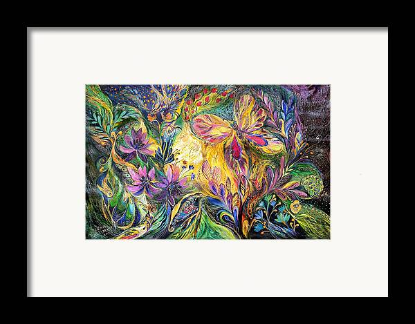 Original Framed Print featuring the painting The Life Of Butterfly by Elena Kotliarker