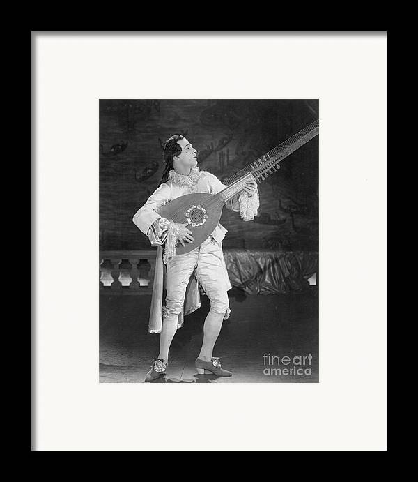 -nec12- Framed Print featuring the photograph Rudolph Valentino by Granger