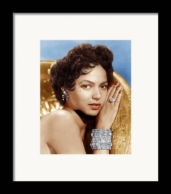1950s Portraits Framed Print featuring the photograph Dorothy Dandridge, Ca. 1950s by Everett