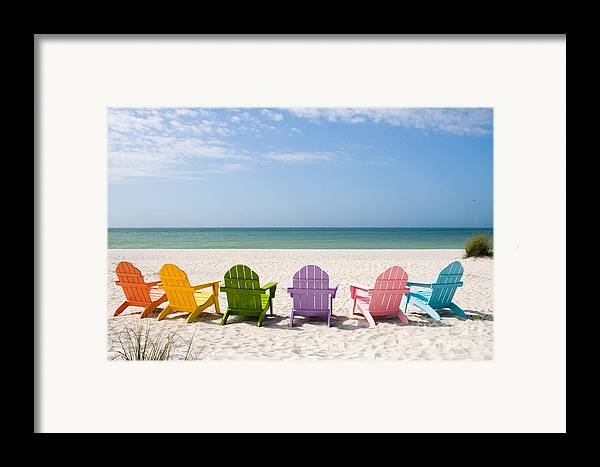 Beach Framed Print featuring the photograph Florida Sanibel Island Summer Vacation Beach by ELITE IMAGE photography By Chad McDermott