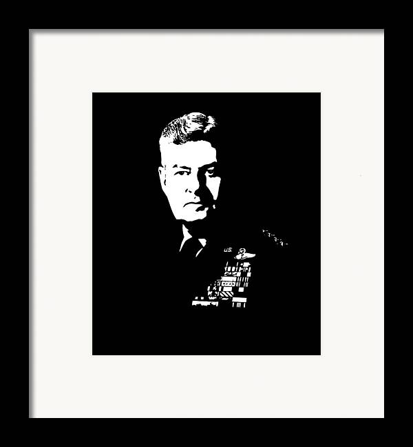 Curtis Lemay Framed Print featuring the digital art General Curtis Lemay by War Is Hell Store