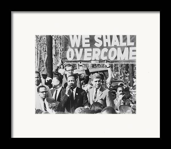 History Framed Print featuring the photograph Martin Luther King, Jr. 1929-1968 by Everett