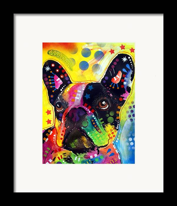 French Bulldog Framed Print featuring the painting French Bulldog by Dean Russo