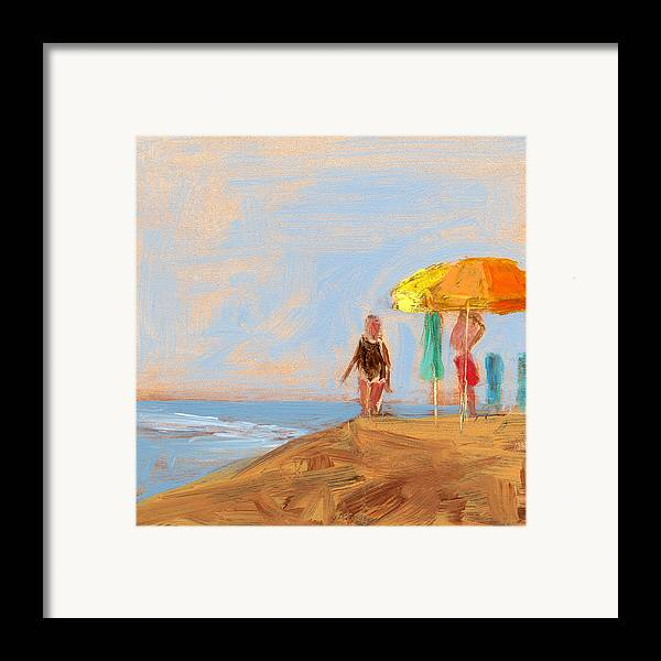 Beach Framed Print featuring the painting Rcnpaintings.com by Chris N Rohrbach