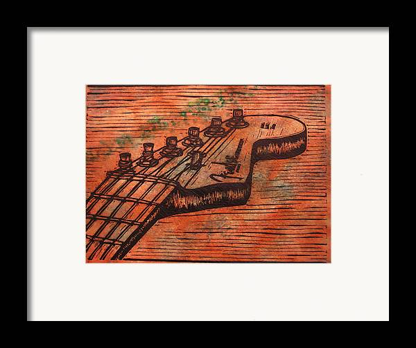 Fender Framed Print featuring the drawing Fender Strat by William Cauthern