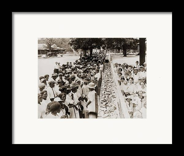 History Framed Print featuring the photograph A Properly Segregated Summer Social by Everett