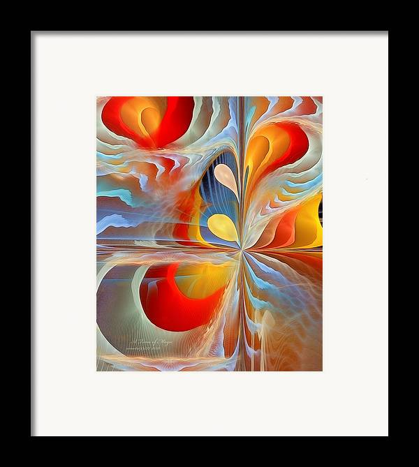 Fractal Framed Print featuring the digital art A Time Of Magic by Gayle Odsather