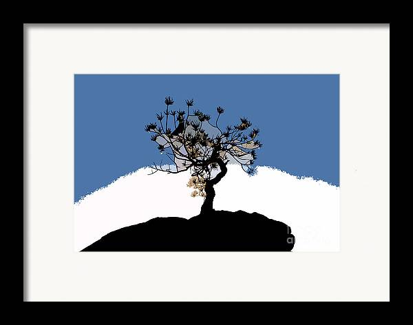 Tree Framed Print featuring the painting A Will To Live by David Lee Thompson