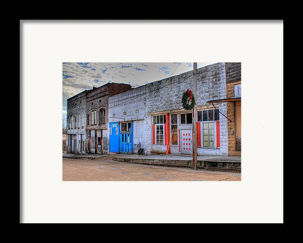 Abandoned Framed Print featuring the photograph Abandoned Main Street by Douglas Barnett