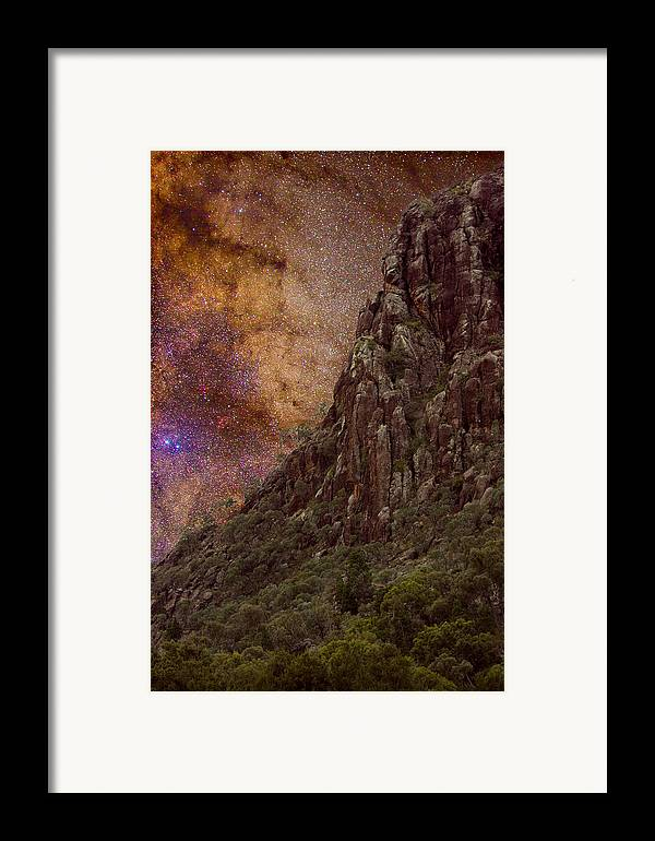 Milky Way Framed Print featuring the photograph Aboriginal Dreamtime by Charles Warren