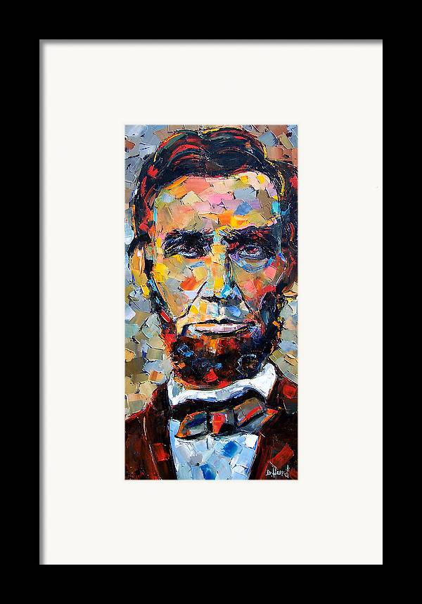 President Framed Print featuring the painting Abraham Lincoln Portrait by Debra Hurd