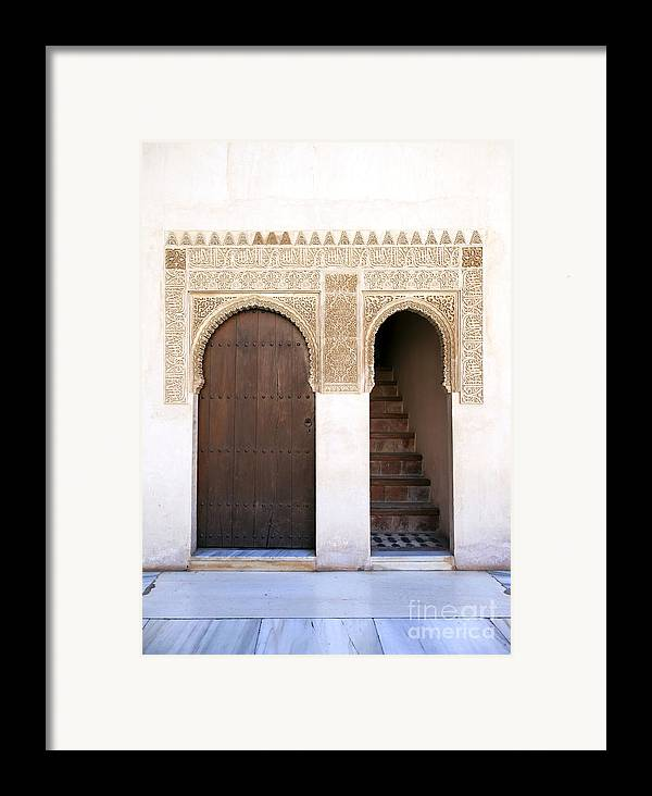 Alhambra Framed Print featuring the photograph Alhambra Door And Stairs by Jane Rix