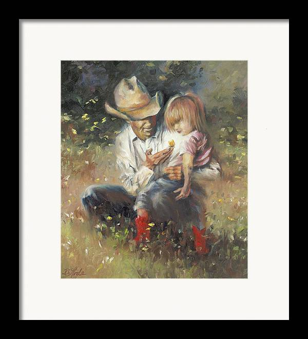 Children Framed Print featuring the painting All Of Life's Little Wonders by Mia DeLode