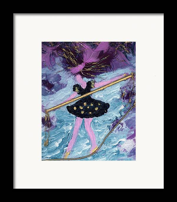 Women Framed Print featuring the painting Althea Balances Her Life After Chemo by Annette McElhiney