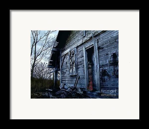 Haunted House Framed Print featuring the digital art Amanda by Tom Straub