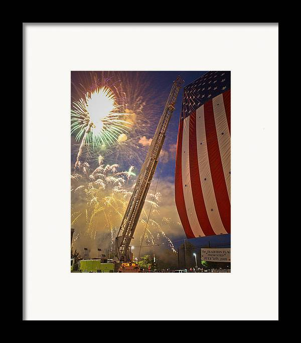 4th Framed Print featuring the photograph America The Beautiful by Jim DeLillo