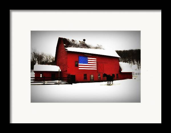 America Framed Print featuring the photograph American Barn by Bill Cannon