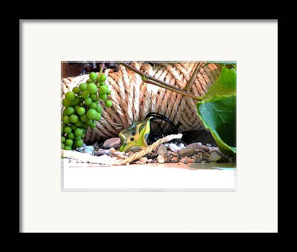 Jewel Framed Print featuring the photograph Among Ropes And Grapes by Chara Giakoumaki